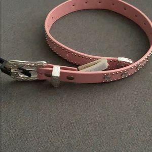 Girls pink belt